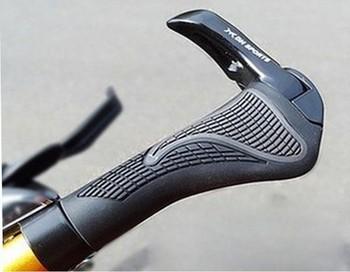 HK Post Fast Shipping 2 pcs/lot MTB Folding Bike Handlebar Lock-on Bike Bicycle Handlebar Rubber Grip Aluminum Barend 2 Colors
