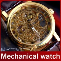 2013 Famous Brand Winner Luxury Fashion Casual Stainless Steel Men Mechanical Watch Skeleton Watch For Men Dress Wristwatch