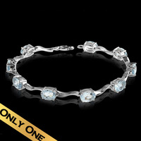 Special Bracelets & Bangles 925 Silver Natural Aquamarine Classic Handmade Free Shipping Luxury Holiday Gifts Jewelry SLCY01A020