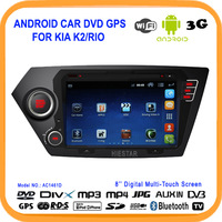 Car Android4.0 DVD GPS For KIA K2/RIO Built in Wifi+USB 3G DVR GPS Map Navigation ISDB/DVBT/ATSC(optional)touch screen