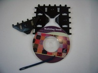 Free Shippng Yarn Craft Make Flowers Pattern DIY Loom Knit Tools Sweater knitting machine, 4pcs, DVD course