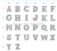 Fashion Floating Charms Assorted Crystal Alphabet for Locket Random Shipments MF013