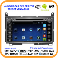 Touch screen Android4.0 Car DVD GPS For TOYOTA Venza 2008 Car PC Built in WIFI USB 3G Bluetooth,SD,DVR