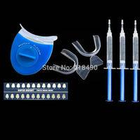 Advanced Teeth Whitening Home Use Teeth Whitener Tooth Whitening Bleaching Dental Gel Syringe Kits+LED LASER Light Oral Hygiene
