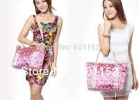 hot selling NEW 2014 shopping bag folding travel storage bag wholesale lunch handbag  Excellent NAPPY bag waterproof mum bag