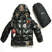 Free shipping 2014 new winter clothing Boy Girls long down jacket Children's fashion classic padded coat
