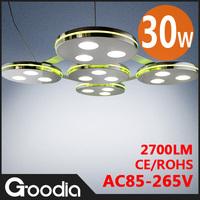 Modern LED Pendant Ceiling Light RED/GREEN/WHITE Border Color LED Light 30W AC85-265V Cool White CE&ROHS LED Ceiling Lamp