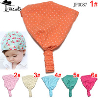 Free shipping (5pieces/lot) 2013 fashion round dot print cute children accessories  princess headbands  JF0087