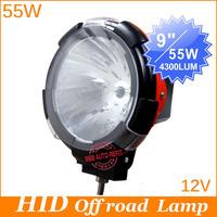 "12V 55w 9"" , Flood/Spot beam fog lamp hid driving lights hid off road light xenon work lighting suv offroad atvs"