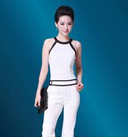 Free Shipping 2013 Summer New Arrival Elegant  Halter Neck Sleeveless Plus Size Jumpsuit Trousers Women 7210