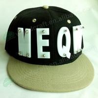 3D letters MEQW Bolted spikes rivets HipHop Hat Flat Peak Snapback cap wholesale snapbacks Adjustable Baseball Rock Cap