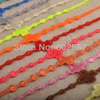 Big Cross New design Italian lace band CR37 Big Cross 60pcs/lot mixed Italy Fashion lace bracelet charm lace bracelet