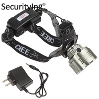 Securitylng Waterproof 2 x CREE XML T64 Switch Modes2400LM Bicycle Light  Headlamp with Adjustable Base