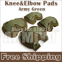 Armiyo Hunting Protection Product Tactical  Wargame Pads Knee Elbow Pads Green Mountain Biking Hiking Climbing Training