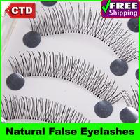 New 10 Pair T217 Black Color Supper Sale False Upper Eyelashes Eyelash Eye Lashes Handmade Natural False Eyelashes
