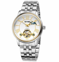 EYKI Brand Skeleton Automatic Mechanical Hand Wind Watch for Men/ Fashion Watches with Roman Numbers /Full Steel Wrist EFL8710L