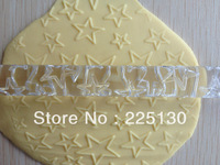 Free shipping Different Size Five Star Shape rolling pin decor does not touch the flattening rod side stick--A163