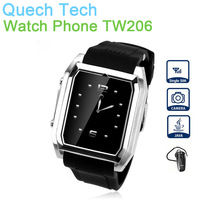 "2G Smart Mobile Phone watch TW206 GPRS 3G Data 1.6"" Screen 1.3MP Camera TF SIM Card Bluetooh Stainless Unclocked 500mAh Battery"