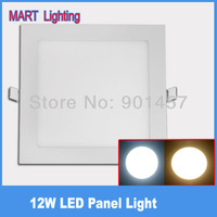 ultra-thin led downlight 12w  SMD3014 Cree led square ceiling  spot bathroom kitchen panel lights