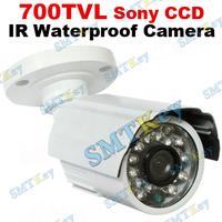 Surveillance 1/3' SONY 6mm lens 700 TVL Color CCD 24 IR Waterproof Security CCTV Camera