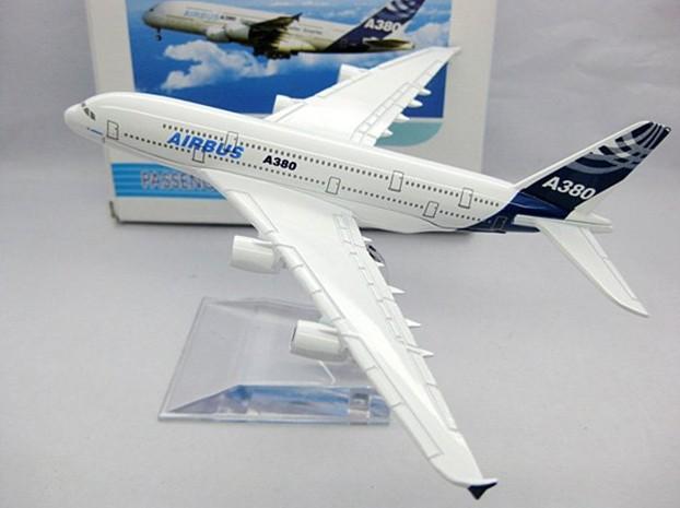 Spedizione gratuita, airbus a380,14cm, modelli di aerei in metallo, modello di aereo, Airbus prototipo di macchina