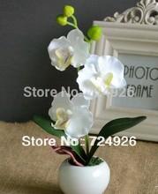 Home decorative flowers artificial flower silk flower multi-colored phalaenopsis bonsai  office desk(China (Mainland))