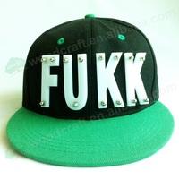 Wholesale Nice Snapback FUKK letter Cap Hat  fast snapback hats flat bill hats