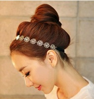 Fashion Head band for women, flower surface, Hollow rose head wear, 10 pieces / lot, Free shipping,