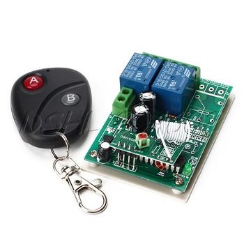 New 12V 2 Channel Interlock Wireless Remote Controller Control Switch Board