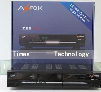 2pcs/lot  Original AZFOX Z2SPLUS HD Two Tuner Free SKS Account (IKS Option),Support Nagra 3,better than  AZFOX Z2S,free shipping