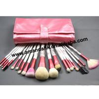 12sets/lot  Brand new pink 20 professional beauty make-up brush sets wholesale