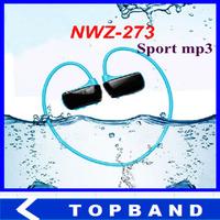 New 8GB W273 Sports Mp3 player headset 8GB Wireless Sweat-band Running earphone Mp3 player headphone water-proof Free Shipping