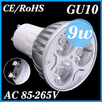 2X Ultra Bright Cree GU10 LED Bulb 9W Lamp Spotlight AC85-265V CE/RoHS High Power Energy-saving Warm/Cool white 2 Years Warranty