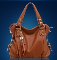 Genuine leather women's handbag 2012 vintage cowhide handbag messenger bag  chain  bags women ladies handbags 2013 designer