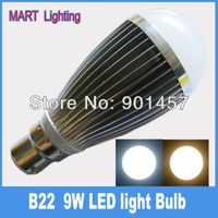 Free shipping B22 9W  led globe light bulb  smd cree 950lm high power downlight lamp