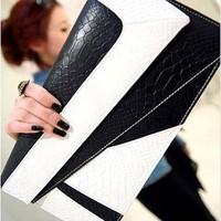 Hot Fashion color matching Patchwork Woman Handbag Small Clutch Bag Evening Party Envelope Messenger Cross-Body Shoulder Bags B5