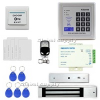 Diy Remote Control Full Complete Rfid Card Door Access Control Kit + 280KG Electromagnetic Lock For Home Improvement KD2000