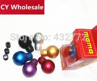 Free shipping Universal  Auto polished gear Shift Knob momo / black aluminum shift knob factory wholesale
