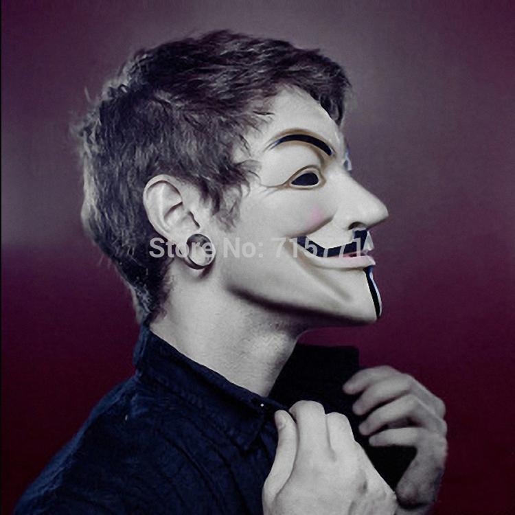 Guy Fawkes festa de máscaras máscara v Vendetta Guy Fawkes máscara dança da máscara de Halloween cos slipknot novos 2.014 máscaras do partido(China (Mainland))
