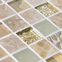 Crystal Mosaic Tiles Stone and Glass Blend Mosaics Iridescent Mosaic Tile Kitchen Backsplash Wall sticker Glass Pool Tile PEE2