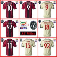 2014-15 Serie  AC Milan home soccer jersey T-shirt top Thai version Serie A patch +7 Cup kaka  #22 Balotelli # 45 Honda #10
