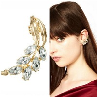 Min Order $18(Can Mix Item) Fashion punk goth gold/silver imitation crystal cuff earrings