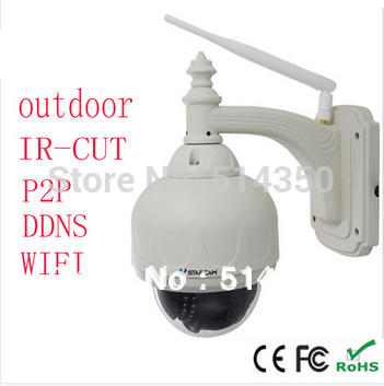 720P PTZ Pan Tilt IR Cut Wireless WiFi Varifocal Len Outdoor IP CAMERA CCTV NightVision Security Monitor waterprOof IP camera(China (Mainland))