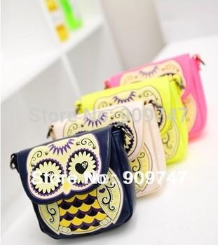 women cute small mini animal handbag cartoon owl shoulder bags candy messenger Printing bag phone bags card wallet purse totes
