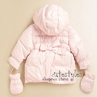 Children Outerwear girls fashion Cotton-padded Jackets With Hoodies Coats For Kids Winter Clothes Baby Down Jacket For Girl