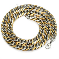 CUSTOMIZE SIZE 9/11/13mm MENS 316L Stainless Steel Heavy Huge Fashion Curb Chain Necklace Free Shipping 20-30inch LHNM02