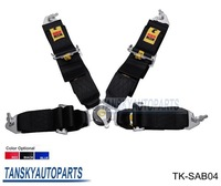 Tansky - 2013 New Sabelt Racing Satefy Seat Belt FIA 2018 Homologation /width:3 inches/4Point TK-SAB04 Color :Black, Red, Blue
