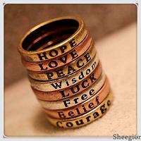 Min.order $10 mix order Fashion personality wish rings set 8 pcs/set Vintage Party Midi Finger ring sets Free shipping