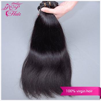 "Ali POP Indian virgin hair 6Avirgin straight hair 3pcs human hair wave straight 8""-30""Unprocessed virgin Straight Hair extension"