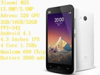 New Xiaomi M2S Single SIM Card GSM/WCDMA/CDMA Quad Core Smartphone 2GB/16GB 4.3 Inches IPS Bar Mobile Phone With GPS/WIFI